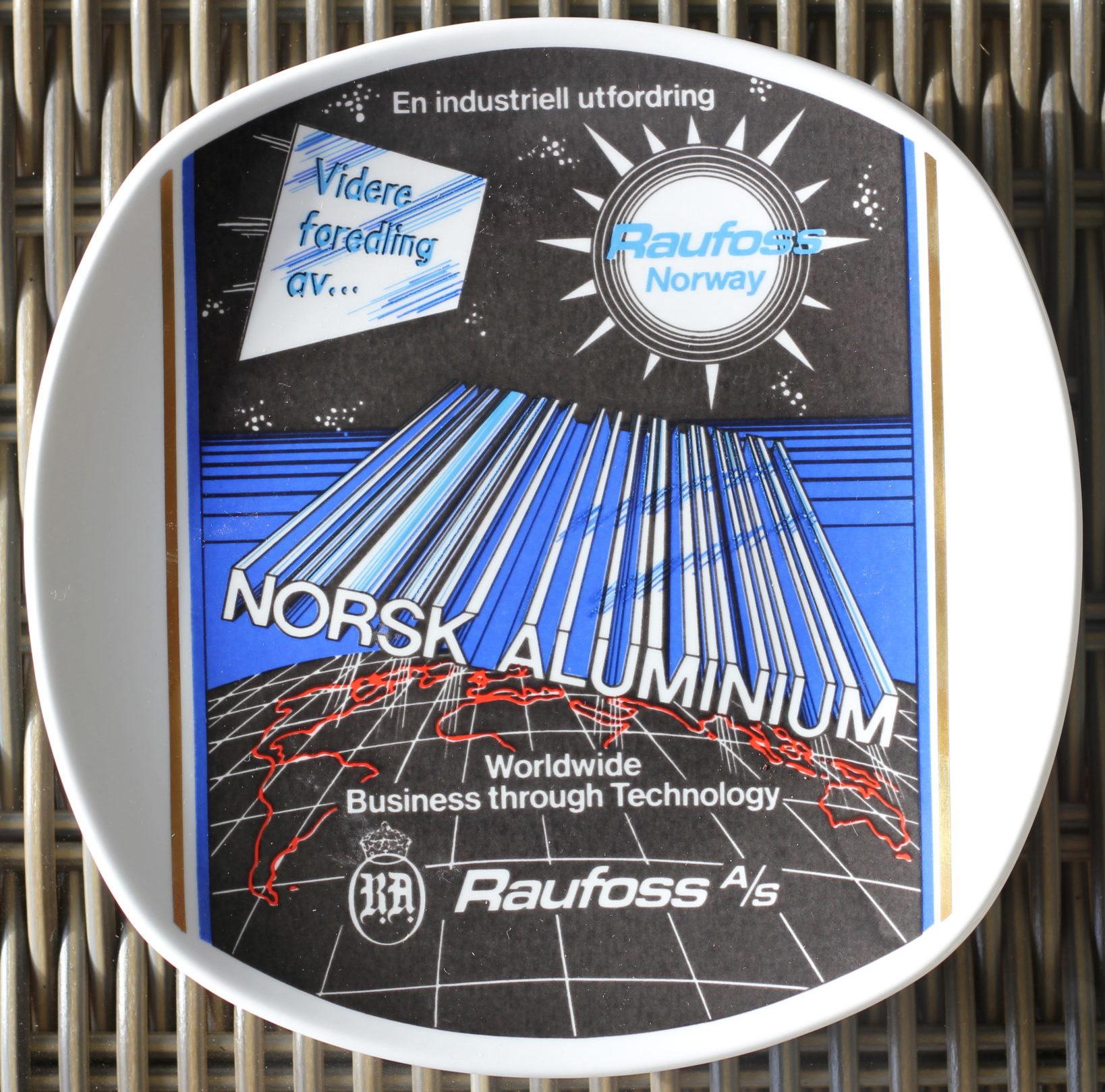 Norsk Aluminium fra 30 års jubileum platte utgitt 1989 – Raufoss historie