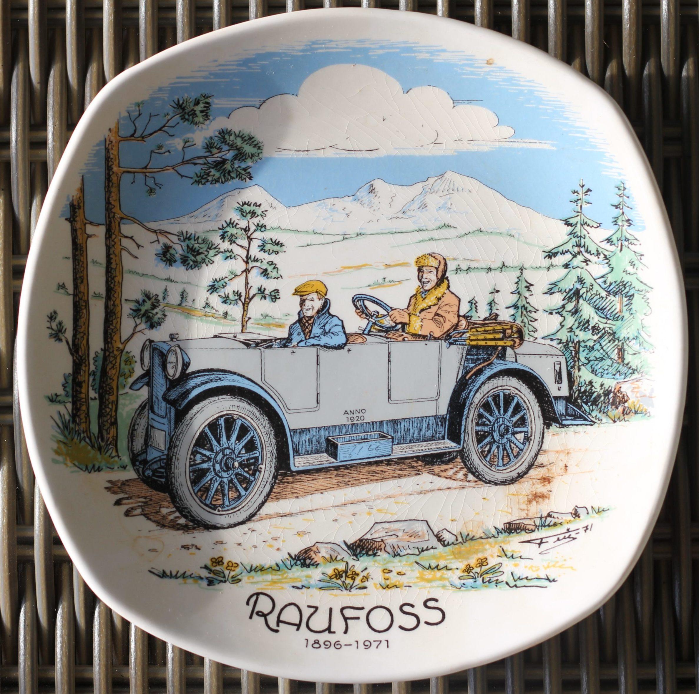 Veteranbil 1896-1971 platte utgitt 1971 – Raufoss historie